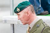 The Boat Race 2013: A Lieutenant-Colonel of the Royal Marines, expecting the delivery of the 2013 Boat Race trophy on the river by Royal Marines.. Putney, London SW15,  United Kingdom, on 31 March 2013 at 14:13, image #65