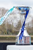 The Boat Race 2013: Close-up view of the 2013 Boat Race trophy at Putney Embankment, just before the toss of the coin.. Putney, London SW15,  United Kingdom, on 31 March 2013 at 14:15, image #71