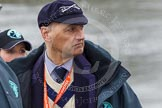 The Boat Race 2013: Boris Rankov, umpire for the Isis/Goldie Boat Race and in charge of the Isis/Goldie race toss of the coin.. Putney, London SW15,  United Kingdom, on 31 March 2013 at 14:24, image #75