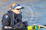 The Boat Race season 2014 - Women's Trial VIIIs (OUWBC, Oxford): Boudicca: Cox Erin Wysocki-Jones.. River Thames between Putney Bridge and Mortlake, London SW15,  United Kingdom, on 19 December 2013 at 12:31, image #17