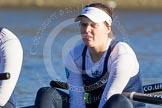 The Boat Race season 2014 - Women's Trial VIIIs (OUWBC, Oxford): Cleopatra: 2 Chloe Farrar.. River Thames between Putney Bridge and Mortlake, London SW15,  United Kingdom, on 19 December 2013 at 12:32, image #19