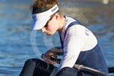 The Boat Race season 2014 - Women's Trial VIIIs (OUWBC, Oxford): Cleopatra: Stroke Laura Savarese.. River Thames between Putney Bridge and Mortlake, London SW15,  United Kingdom, on 19 December 2013 at 12:32, image #24