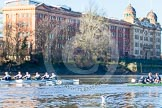 The Boat Race season 2014 - Women's Trial VIIIs (OUWBC, Oxford): Boudicca vs Cleopatra.. River Thames between Putney Bridge and Mortlake, London SW15,  United Kingdom, on 19 December 2013 at 12:48, image #108