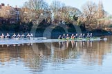 The Boat Race season 2014 - Women's Trial VIIIs (OUWBC, Oxford): Boudicca vs Cleopatra.. River Thames between Putney Bridge and Mortlake, London SW15,  United Kingdom, on 19 December 2013 at 12:49, image #120