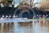 The Boat Race season 2014 - Women's Trial VIIIs (OUWBC, Oxford): Boudicca vs Cleopatra.. River Thames between Putney Bridge and Mortlake, London SW15,  United Kingdom, on 19 December 2013 at 12:49, image #124