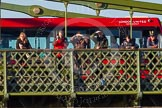 The Boat Race season 2014 - Women's Trial VIIIs (OUWBC, Oxford): Onlookers watching the race from Hammersmith Bridge.. River Thames between Putney Bridge and Mortlake, London SW15,  United Kingdom, on 19 December 2013 at 12:50, image #125