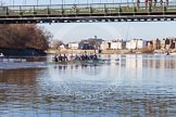 The Boat Race season 2014 - Women's Trial VIIIs (OUWBC, Oxford): Boudicca vs Cleopatra.. River Thames between Putney Bridge and Mortlake, London SW15,  United Kingdom, on 19 December 2013 at 12:50, image #126
