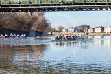 The Boat Race season 2014 - Women's Trial VIIIs (OUWBC, Oxford): Boudicca vs Cleopatra.. River Thames between Putney Bridge and Mortlake, London SW15,  United Kingdom, on 19 December 2013 at 12:50, image #128