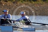 The Boat Race season 2014 - Women's Trial VIIIs (OUWBC, Oxford): Cleopatra: 2 Chloe Farrar, Bow Elizabeth Fenje.. River Thames between Putney Bridge and Mortlake, London SW15,  United Kingdom, on 19 December 2013 at 12:58, image #189