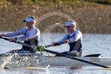 The Boat Race season 2014 - Women's Trial VIIIs (OUWBC, Oxford): Cleopatra: 2 Chloe Farrar, Bow Elizabeth Fenje.. River Thames between Putney Bridge and Mortlake, London SW15,  United Kingdom, on 19 December 2013 at 12:58, image #190