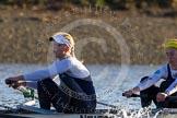 The Boat Race season 2014 - Women's Trial VIIIs (OUWBC, Oxford): Cleopatra:  6 Elo Luik, 5 Harriet Keane.. River Thames between Putney Bridge and Mortlake, London SW15,  United Kingdom, on 19 December 2013 at 12:58, image #193