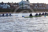 The Boat Race season 2014 - Women's Trial VIIIs (OUWBC, Oxford): Boudicca vs Cleopatra.. River Thames between Putney Bridge and Mortlake, London SW15,  United Kingdom, on 19 December 2013 at 12:59, image #198