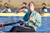 The Boat Race season 2014 - Women's Trial VIIIs(CUWBC, Cambridge): Wink Wink:  4 Sara Lackner.. River Thames between Putney Bridge and Mortlake, London SW15,  United Kingdom, on 19 December 2013 at 13:47, image #262