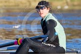 The Boat Race season 2014 - Women's Trial VIIIs(CUWBC, Cambridge): Wink Wink: Stroke Melissa Wilson.. River Thames between Putney Bridge and Mortlake, London SW15,  United Kingdom, on 19 December 2013 at 13:47, image #266