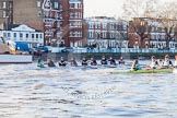 The Boat Race season 2014 - Women's Trial VIIIs(CUWBC, Cambridge): Nudge Nudge vs Wink Wink.. River Thames between Putney Bridge and Mortlake, London SW15,  United Kingdom, on 19 December 2013 at 14:02, image #312
