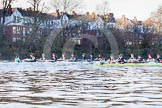 The Boat Race season 2014 - Women's Trial VIIIs(CUWBC, Cambridge): Nudge Nudge vs Wink Wink. River Thames between Putney Bridge and Mortlake, London SW15,  United Kingdom, on 19 December 2013 at 14:09, image #398
