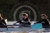 The Boat Race season 2014 - Women's Trial VIIIs(CUWBC, Cambridge): Wink Wink: 3 Hannah Roberts, 2 Sarah Crowther.. River Thames between Putney Bridge and Mortlake, London SW15,  United Kingdom, on 19 December 2013 at 14:13, image #436
