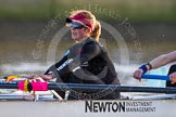 The Boat Race season 2014 - Women's Trial VIIIs(CUWBC, Cambridge): Wink Wink: 6 Fiona Macklin.. River Thames between Putney Bridge and Mortlake, London SW15,  United Kingdom, on 19 December 2013 at 14:19, image #490