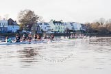 The Boat Race season 2014 - Women's Trial VIIIs(CUWBC, Cambridge): Nudge Nudge vs Wink Wink.. River Thames between Putney Bridge and Mortlake, London SW15,  United Kingdom, on 19 December 2013 at 14:22, image #519