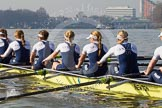 The Boat Race season 2014 - fixture OUWBC vs Molesey BC: The OUWBC Eight: Stroke Laura Savarese, 7 Anastasia Chitty, 6 Lauren Kedar, 5 Amber De Vere, 4 Nadine Graedel Iberg and 3 Maxie Scheske..     on 01 March 2014 at 12:26, image #30