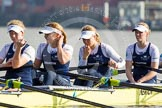 The Boat Race season 2014 - fixture OUWBC vs Molesey BC: The OUWBC Eight: 5 Amber De Vere, 4 Nadine Graedel Iberg, 3 Maxie Scheske, and 2 Alice Carrington-Windo..     on 01 March 2014 at 13:05, image #149