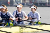 The Boat Race season 2014 - fixture OUWBC vs Molesey BC: The OUWBC Eight: 3 Maxie Scheske, 2 Alice Carrington-Windo, and bow Elizabeth Fenje..     on 01 March 2014 at 13:05, image #150