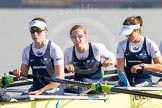 The Boat Race season 2014 - fixture OUWBC vs Molesey BC: The OUWBC Eight: Stroke Laura Savarese, 7 Anastasia Chitty and 6 Lauren Kedar..     on 01 March 2014 at 13:05, image #151