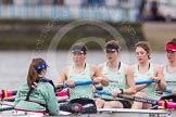 The Boat Race season 2014 - fixture CUWBC vs Thames RC: In the Cambridge boat cox Esther Momcilovic, stroke Emily Day, 7 Claire Watkins, 6 Melissa Wilson, 5 Catherine Foot..     on 02 March 2014 at 13:09, image #30