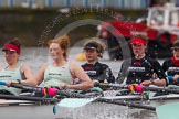 The Boat Race season 2014 - fixture CUWBC vs Thames RC: The Cambridge boat at the start of the fixture:   5 Catherine Foot, 4 Izzy Vyvyan, 3 Holly Game, 2 Kate Ashley, bow Caroline Reid..     on 02 March 2014 at 13:10, image #47
