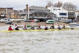 The Boat Race season 2014 - fixture CUWBC vs Thames RC: The Thames RC boat passing the Putney boat houses..     on 02 March 2014 at 13:11, image #54
