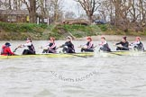 The Boat Race season 2014 - fixture CUWBC vs Thames RC: The Thames RC boat near the black buoy..     on 02 March 2014 at 13:12, image #65