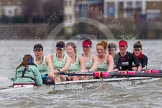 The Boat Race season 2014 - fixture CUWBC vs Thames RC: In the Thames RC boat stroke Katie O'Toole..     on 02 March 2014 at 13:15, image #106