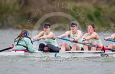 The Boat Race season 2014 - fixture CUWBC vs Thames RC: In the Cambridge boat cox Esther Momcilovic, stroke Emily Day, 7 Claire Watkins, 6 Melissa Wilson..     on 02 March 2014 at 13:17, image #119