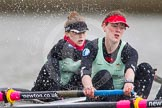 The Boat Race season 2014 - fixture CUWBC vs Thames RC: In the Cambridge boat at bow Caroline Reid, 2 Kate Ashley..     on 02 March 2014 at 13:57, image #140