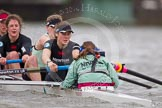 The Boat Race season 2014 - fixture CUWBC vs Thames RC: In the Cambridge boat 7 Claire Watkins, stroke Emily Day, cox Esther Momcilovic..     on 02 March 2014 at 14:02, image #176