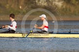 The Boat Race season 2014 - fixture OUBC vs German U23: The German U23 boat: 2 Finn Knuppel and bow Jonas Wiesen.. River Thames between Putney Bridge and Chiswick Bridge,    on 08 March 2014 at 16:41, image #9