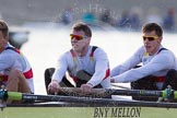 The Boat Race season 2014 - fixture OUBC vs German U23: The German U23-boat: 5 Johannes Weissenfeld, 4 Maximilian Korge.. River Thames between Putney Bridge and Chiswick Bridge,    on 08 March 2014 at 16:46, image #48