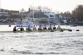 The Boat Race season 2014 - fixture OUBC vs German U23: The German U23-boat at the Putney boat houses.. River Thames between Putney Bridge and Chiswick Bridge,    on 08 March 2014 at 16:46, image #53