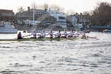 The Boat Race season 2014 - fixture OUBC vs German U23: The German U23-boat at the Putney boat houses.. River Thames between Putney Bridge and Chiswick Bridge,    on 08 March 2014 at 16:46, image #54