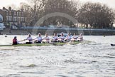 The Boat Race season 2014 - fixture OUBC vs German U23: The German U23-boat at the Putney boat houses.. River Thames between Putney Bridge and Chiswick Bridge,    on 08 March 2014 at 16:47, image #58