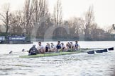 The Boat Race season 2014 - fixture OUBC vs German U23: The OUBC boat.. River Thames between Putney Bridge and Chiswick Bridge,    on 08 March 2014 at 16:47, image #60