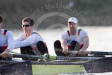 The Boat Race season 2014 - fixture OUBC vs German U23: The German U23-boat: 2 Finn Knuppel, bow Jonas Wiesen.. River Thames between Putney Bridge and Chiswick Bridge,    on 08 March 2014 at 16:48, image #72