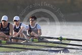 The Boat Race season 2014 - fixture OUBC vs German U23: The OUBC boat: 3 Karl Hudspith, 2 Chris Fairweather, bow Storm Uru.. River Thames between Putney Bridge and Chiswick Bridge,    on 08 March 2014 at 16:48, image #74