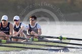 The Boat Race season 2014 - fixture OUBC vs German U23: The OUBC boat: 3 Karl Hudspith, 2 Chris Fairweather, bow Storm Uru.. River Thames between Putney Bridge and Chiswick Bridge,    on 08 March 2014 at 16:48, image #75
