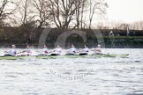 The Boat Race season 2014 - fixture OUBC vs German U23: The German U23-boat at the Mile Post.. River Thames between Putney Bridge and Chiswick Bridge,    on 08 March 2014 at 16:49, image #95