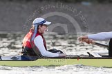 The Boat Race season 2014 - fixture OUBC vs German U23: The German U23-boat: Cox Torben Johannesen.. River Thames between Putney Bridge and Chiswick Bridge,    on 08 March 2014 at 16:51, image #105