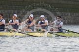 The Boat Race season 2014 - fixture OUBC vs German U23: The OUBC boat: 5 Malcolm Howard, 4 Thomas Swartz, 3 Karl Hudspith, 2 Chris Fairweather, bow Storm Uru.. River Thames between Putney Bridge and Chiswick Bridge,    on 08 March 2014 at 16:51, image #106