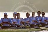 The Boat Race season 2014 - fixture OUBC vs German U23: The German U23-boat: Stroke Eike Kutzki, 7 Ole Schwiethal, 6 Arne Schwiethal, 5 Johannes Weissenfeld, 4 Maximilian Korge, 3 Malte Daberkow, 2 Finn Knuppel.. River Thames between Putney Bridge and Chiswick Bridge,    on 08 March 2014 at 16:55, image #138