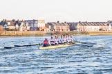 The Boat Race season 2014 - fixture OUBC vs German U23: The German U23 boat during the second race.. River Thames between Putney Bridge and Chiswick Bridge,    on 08 March 2014 at 17:05, image #224