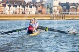 The Boat Race season 2014 - fixture OUBC vs German U23: The German U23 boat during the second race.. River Thames between Putney Bridge and Chiswick Bridge,    on 08 March 2014 at 17:05, image #225